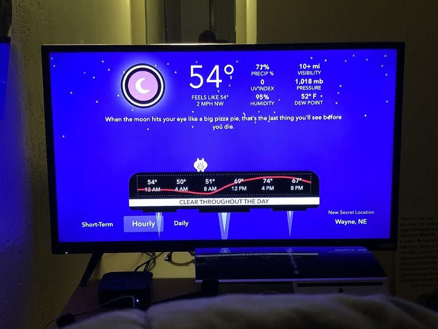 Apple TV App Review: CARROT Weather